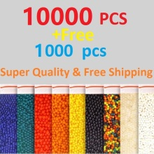 9mm,11 mm,13mm Free Shipping 10000Pcs +Free 1000 Soft Crystal Water Paintball Bullet Gun Toy Bibulous Water Gun Accessories(China)