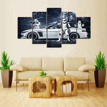 (Framed) 5 Pieces Star Wars Assault Vehicle BMW Modern Home Wall Decor Canvas Picture Art HD Print Painting On Canvas Artworks