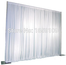 Free Shipping 3M*3M Wedding Drapery Pipe Stand/Wedding Decor Piping frame/Stainess Steel Wedding Backdrop Stand