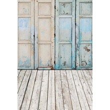 12 ft vinyl cloth print grunge blue door photo booth backgrounds for portrait photo studio photography backdrops S-1211