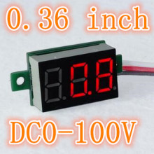 0.36 inch Digital  Red Light LED Voltmeter Portable Voltmeter  Panel Voltage Meter Electrical Instruments DC0-100V 30%off