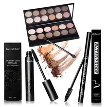 12 Colors Professional Nude Eyeshadow Palette Makeup Matte Eye Shadow Palette +Eyes Makeup+ Eyes pen + 12pcs brush PE3(China)
