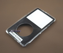 black color plastic front faceplate fascia housing case cover shell for ipod 5th 5.5th gen video 30gb 60gb 80gb