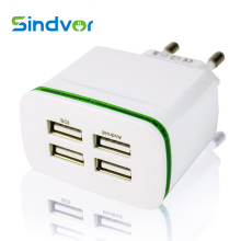 Sindvor Universal 4 Ports Usb Charger Power Adapter 5V 4A EU Plug Travel Wall Charger For Samsung iPhone iPad Sony HTC Tablets(China)