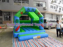 Inflatable jumping bed/inflatable bouncer with slide,set trampolines slide for kids and adults(China)
