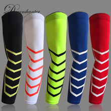 1 pcs Lengthened elbow support wristband arm Warmer sleeve Basketball Protector Sport Breathable Elastic Compression Armband(China)
