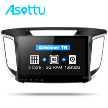 Asottu CIX251060 android 7.1 car dvd gps player For HYUNDAI IX25 CRETA car dvd gps navigation raido video audio player car 2 din(China)