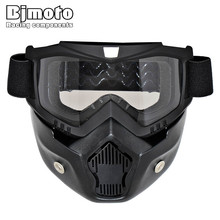 BJMOTO Ski Skate Motorcycle Goggle Motocross Goggles Helmet Glasses Windproof off Road Moto Cross Helmets Mask Goggles(China)