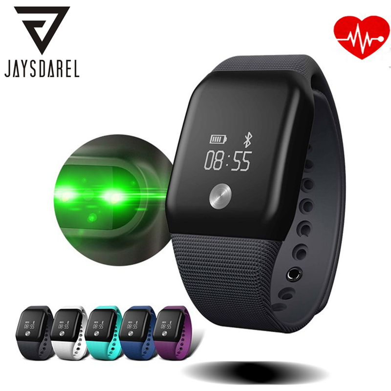 JAYSDAREL A88+ Heart Rate Blood Oxygeon Monitor Smart Watch OLED Screen Smart Wristwatch Quick Charge Bracelet for Android iOS<br>