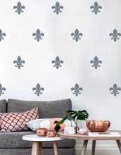 Floral Fleur De Lis Wall Decal , French style art pattern vinyl Wall Sticker Modern Nursery Decor(China)