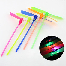 1 PC Random   color creative bamboo dragonfly flash shine hand push  luminous small toys Toys for children gifts