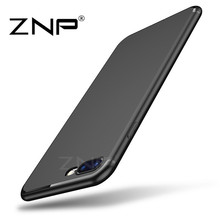 ZNP Luxury Back Matte Soft Silicon Cases for iPhone 8 7 6 Case 6s Plus 5 5s SE Case Full Cover For iPhone 8 7 8 Plus Phone Cases(China)