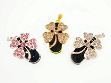 New Crystal Clover Usb 2.0 Memory Flash Stick Pen Drive (Good for Christmas and Valentine)(China)