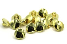 100pcs new style wholesale 11mm plating gold buttons apparel sewing acccessories DIY crafts
