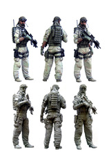 [tuskmodel] 1 35 scale resin model figures kit  US special forces operators four