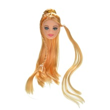 Excellent Quality Doll Head with Colorized Hair DIY Accessories For Barbie Doll Baby DIY Toys New Style