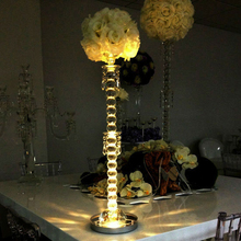 20pcs/lot 8inch LED Candelabra Vase wedding centerpieces table Light RGB Multi Colors with remote control hookah lamps base