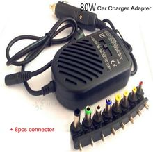 High Quality 80W Universal Car-Charger Plug DC Power Adapter Power Supply for Laptop Notebook PC Computer(China)