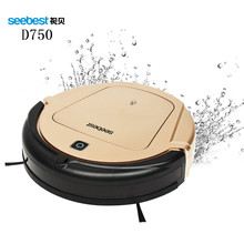 Seebest D750 TURING 1.0 GPS Navigator Planned Clean Route Robot Vacuum Cleaner with Water Tank Wet Mopping(China)