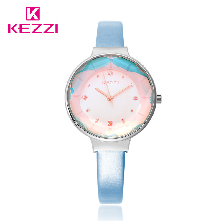 Top Selling Fashion Luxury KEZZI Band Watch Women Leather Strap Colorfull RhineStone Dress Quartz women Watch Ladies Clock  <br><br>Aliexpress