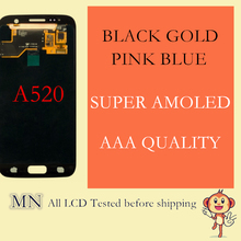 Tracking No. + 100% Tested Super Amoled For Samsung Galaxy A5 2017 A520 A520F A520F/DS LCD Digitizer Assembly - Gold Black Pink