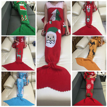 chrismas gifts 10 colors christmas decorations for home mermaid blanket wool blanket mermaid tail blanket