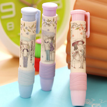 1 x novelty pen shape eraser sweet rubber eraser creative stationery school supplies papelaria gift for kids(China)