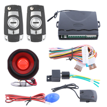Quality car security alarm system with LED light dual stage shock sensor central locking anti hijacking keyless entry(China)