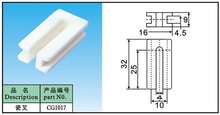 white ceramic  fork    porcelain wire guide part in wire and textile CG-1017