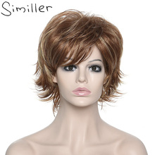 Similler Kinky Curly Hair Wigs For Black Women Synthetic Wigs Heat Resistant With Hairnet(China)