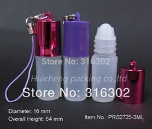 Free Shipping - 24 x 3ml Mini plastic roll on bottle, 3cc Small Roll on Perfume Bottle,3ML Plastic Perfume Bottle Pendant