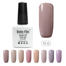 Nude Colors Series UV Gel Nail Polish 10ml Beige Soak Off Gel Polish Lacquer Nail Art Manicure Varnish Vernis Semi Permanent(China)
