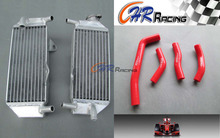 Aluminum radiator +Red hose For Honda CRF250R CRF 250R CRF250 2010 2011 2012 2013(China)
