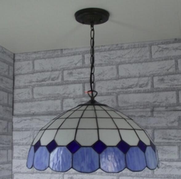 Special offer Tiffany minimalist Mediterranean living room bedroom den Continental hanging balcony aisle LED pendant Light<br><br>Aliexpress