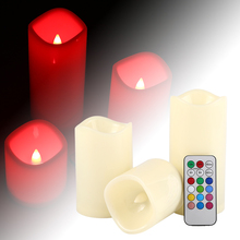 Fashion New 2017 Remote Control Led Paraffin Electronic Candle Wedding Props Birthday Christmas Candle Creative Night Light F2