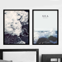 New Sea Spray Nordic Landscape Canvas Painting Wall Art Posters Prints Kids Room Pictures For Living Room Home Decor Unframed(China)