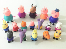 17pcs peppal pigs toys Action Figures Family Member pig Toy Juguetes Baby Kid Christmas Birthday Gift brinquedo Playset Gift