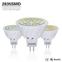 10Pcs 4W 6W 8W LED Lamp MR16 AC / DC 12V 24V Led Bulb Light gu5.3 mr 16 Led Spotlight 220V 2835SMD Led Lighting White/Warm White()