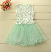 UNIKIDS 2015 Summer style girl dresses for 2-12 year Princess wedding Party Kids clothes Child's wear toddler tutu baby girls dr