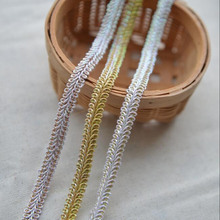 Gold Silver Lace Trim Braided For Costume Decoration Centipede Braid Ribbon Lace For DIY Sewing