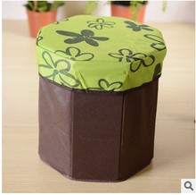 oxford Octagonal Stool Multifunctional Storage Stool Storage Box Can Sit People Load 100 Kg