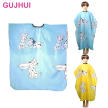 Kid Cartoon Dog Dressing Cape Salon Gown Cover Barber Hairdresser Hair Cut Cloth