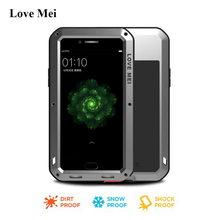 Love Mei Powerful Aluminum Armor Case For OPPO R9s Plus Cover Fundas Water/Shock/Rain Proof Metal Case OPPO R9s Plus Shell Coque