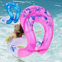 relefree Inflatable Float  Swimming Ring Baby Inflatable Circle Adjustable Kids Children Toys Double airbags design Color Random