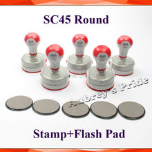 5Pcs Round SC 38, 40, 42, 45mm Oval 30*40, 35*50mm Holder plus Rubber Pad for Photosensitive Portrait Flash Stamp Machine(China)
