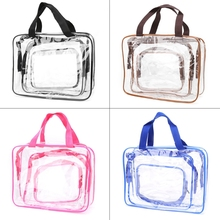 3Pcs Travel Makeup Cosmetic Clear Bag Case Toiletry Bathing Organizer Waterproof(China)