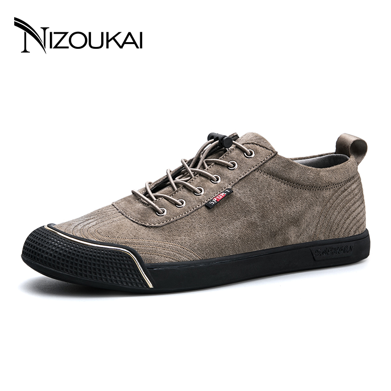 High Quality Men Casual Shoes hot sale men genuine leather shoes mens fashion flat shoes lace up male casual footwear<br>