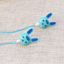2016 new rabbit cartoon earphones in ear bests fone de ouvido cute earbuds ear phones for pc mp3 mp4 player free shipping