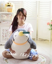 Dorimytrader 35'' / 90cm Giant Plush Animal Penguin Pillow Toy Stuffed Soft Cartoon Penguins Doll Kid Gift Free Shipping DY61203