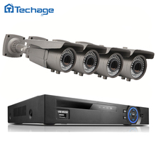 Techage 8CH 4CH 1080P 48V POE NVR HD CCTV System 2.0MP 2.8-12mm Zoom Lens P2P 4PCS IP Camera Outdoor Security Surveillance Kit